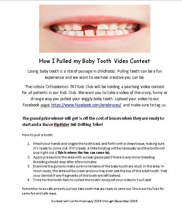 How I Lost my Baby Tooth Contest
