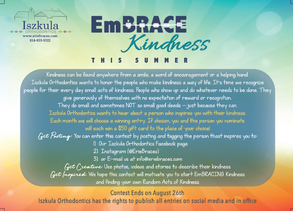EmBRACE Kindness Summer Contest