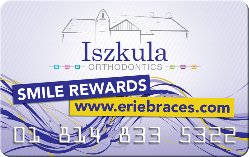 Iszkula Orthodontics Patient Rewards Card